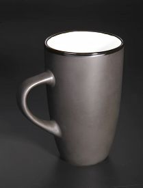 picture of loamy  - Photo of the Black cup over black background - JPG
