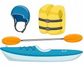 pic of kayak  - Illustration of Different Objects Used in Kayaking - JPG