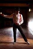 pic of tango  - Powerful pose of a tango male dancer - JPG