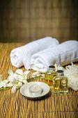 foto of massage oil  - Massage concept - JPG