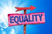 picture of equality  - Equality sign with sky background - JPG