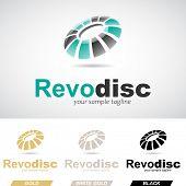 stock photo of revolver  - Green and Black Round Glossy Revolving Icon Vector Illustration - JPG