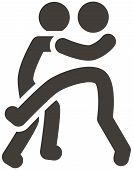foto of wrestling  - Summer sports art icons set  - JPG