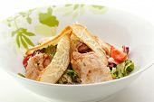 stock photo of caesar salad  - Caesar Salad with Chicken Fillet - JPG