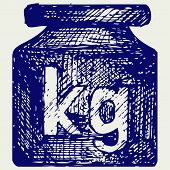 picture of weight lifter  - Weight kilogram - JPG