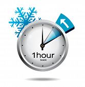 pic of daylight saving time  - Clock switch to winter time - JPG