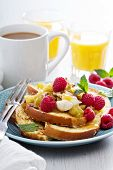 stock photo of french toast  - French toasts with cinnamon - JPG