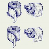 picture of toilet  - Simple toilet paper - JPG