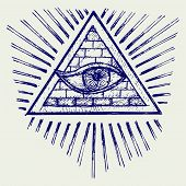 picture of illuminati  - All seeing eye - JPG