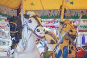 picture of merry-go-round  - horses of mery go round - JPG