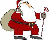 Santa With A Cane