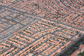 image of suburban city  - Suburbia in the USA  - JPG