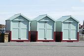 Beach Huts At Hove, Brighton, UK