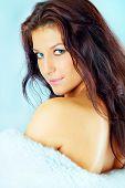 pic of beautiful brunette woman  - Beautiful brunette woman - JPG