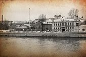 view of St. Petersburg made in artistic retro style