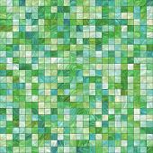 smooth irregular green background of bathroom or swimming pool tiles or wall, tiles seamlessly as a pattern