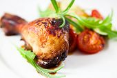 pic of roast chicken  - Roast chicken - JPG