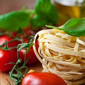 Close up of italian pasta