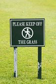 Please Keep Off The Grass Sign Taken In England July 2007