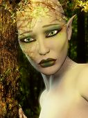 Traurig Elf - Erde-Tag-Konzept