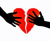 Broken heart & hands