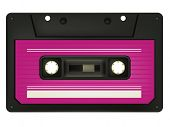 Audio-Kassette, isolated on White Background. Vektor.