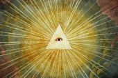 Ancient painting of God's eye, north Italy