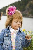 Bannie Gazing At Flower poster