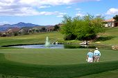 Golfers Studying Course_Tucson