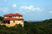 A nice home with a downtown Austin, Texas view.