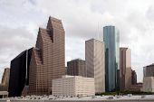 Una sección de edificios en la ciudad de Houston Texas.