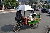 stock photo of rickshaw  - Rickshaw driver - JPG
