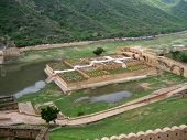 Walled gardens, Amber Fort, Jaipur, India