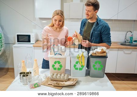 Waste Sorting At Home Smiling