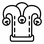 Joker Hat Icon. Outline Joker Hat Icon For Web Design Isolated On White Background poster