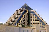 United Arab Emirates: Dubai; Pyramid  Modern Buiding