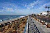 Carlsbad Perspective - Carlsbad beach in San Diego. Summer in December in San Diego.