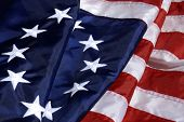 Democratic Foundations - the vibrant colors of the first American flag.