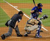 Baseball Game - hitter, catcher, and umpire.