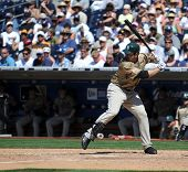 June 22, 2008 - Adrian Gonzales, San Diego Padres slugging first baseman with a pretty left-handed s