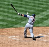 June 22nd, 2008 - Detroit Tigers Ivan Rodriguez during home run  during a game versus the San Diego