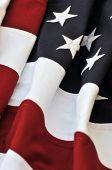 Bandera americana - los atrevidos colores rojos, blancos y azules de la República.