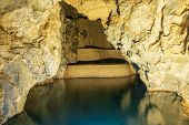 Cave Lake Nature Background. Amazing Cave Lake Nature. Nature Background. Nature Perfection. Cave La poster