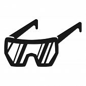 Protective Glasses Icon. Simple Illustration Of Protective Glasses Icon For Web Design Isolated On W poster