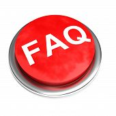 Faq Button Isolated