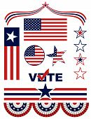 US-amerikanische patriotische Elemente