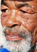 Closeup of an old African man