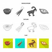 Isolated Object Of Culture And Sightseeing Icon. Collection Of Culture And Originality Vector Icon F poster