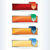 vector hot download buttons