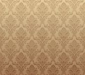 Vector illustration of brown seamless wallpaper pattern